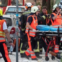 Vienoje numanomas dujų sprogimas apgriovė namą, sužeidė mažiausiai 12 žmonių