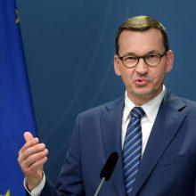 M. Morawieckis: turi būti surengti pakartotiniai Baltarusijos prezidento rinkimai