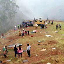 Per autobuso avariją Peru žuvo 19 žmonių