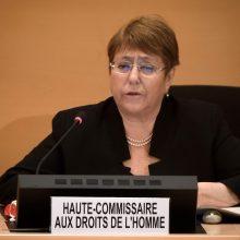 JT žmogaus teisių komisarė paskyrė ekspertus tyrimui dėl pažeidimų Baltarusijoje