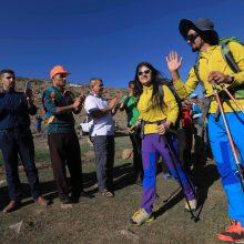 Irako Kurdistane alpinizmo entuziastų pora susituokė aukštai kalnuose