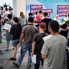 Rusijoje nustatytas didžiausias COVID-19 infekcijų skaičius nuo sausio pradžios