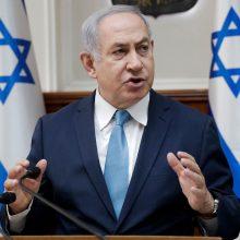 """Po Izraelio smūgių Sirijoje B. Netanyahu perspėjo """"Hizbollah"""""""