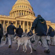 Vašingtone prieš J. Bideno inauguraciją dislokuoti radiacinės ir cheminės saugos daliniai