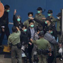 Honkonge po teismų maratono dešimtys disidentų pasiųsta už grotų