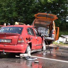 Raseinių rajone per avariją sužaloti žmonės
