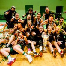 """Prakeiksmas nutrauktas: Vilniaus """"Kibirkšties-MRU"""" krepšininkės tapo lygos čempionėmis"""