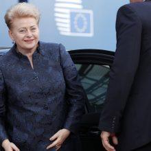 D. Grybauskaitė buvo svarstoma tarp kandidatų į Europos Komisijos vadoves