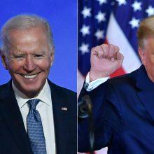 J. Bidenui artėjant prie pergalės, D. Trumpas kreipiasi į teismus