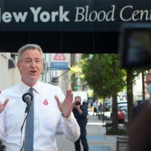 Niujorko meras pranešė, kad komendanto valanda mieste pratęsiama iki birželio 7 d.