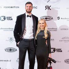 Darjušas Lavrinovičius su žmona Edita