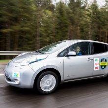 Naujas elektromobilių varžybų rekordas: iš Vilniaus į Palangą – per 3 val. 28 min.