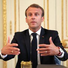 E. Macronas išreiškė palaikymą JT pripažintai Libijos vyriausybei