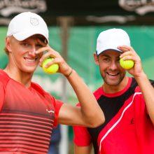 Lukas Mugevičius <span style=color:red;>(kairėje)</span> ir Laurynas Grigelis