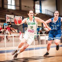 Lietuvos 18-metės krepšininkės Europos čempionate šventė antrąją pergalę