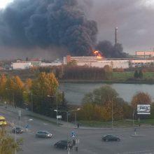 Dėl gaisro Alytuje savivaldybė paskelbė ekstremalią situaciją