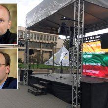 Prie Seimo įvyko tautininkų mitingas: ragino organizuoti referendumus dėl partnerystės