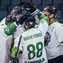 """""""Kaunas Hockey"""" ledo ritulininkai nesunkiai nugalėjo """"Geležinį vilką"""""""