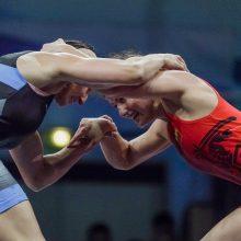 Imtynininkė D. Domikaitytė Europos žaidynėse kausis dėl bronzos