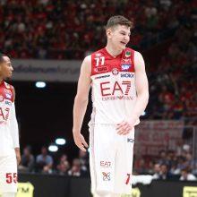 Lietuvos krepšininkai prie Milano komandos pergalės prisidėjo 23 taškais