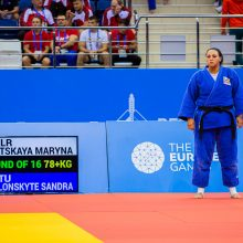 Lietuvos dziudo rinktinė Europos žaidynėse liko be pergalių