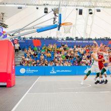 Lietuvos trijulių krepšinio rinktinė Europos žaidynėse nepateko į pusfinalį