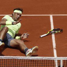 """R. Nadalis, R. Federeris ir A. Sevastova pateko į trečiąjį """"French Open"""" turnyro ratą"""