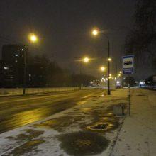 Kelininkai: naktį eismo sąlygas blogins plikledis