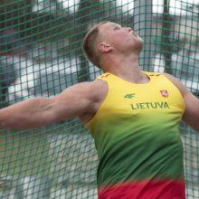 Po traumos sugrįžęs A. Gudžius Utenoje įvykdė olimpinį normatyvą