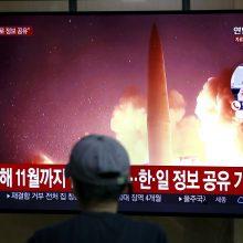 Šiaurės Korėja paleido dar dvi trumpojo nuotolio raketas