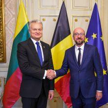 Prezidentas susitiko su išrinktuoju Europos Vadovų Tarybos pirmininku