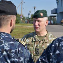 Kariuomenės vadas susipažino su Klaipėdos įgulos karių vykdomomis užduotimis