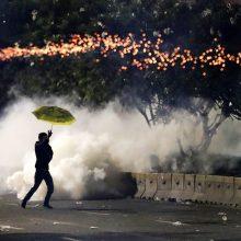 Indonezijos sostinėje vyko susirėmimai tarp policijos ir demonstrantų