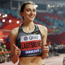 Įspūdingame moterų šuolių į aukštį finale – rusės M. Lasickienės triumfas