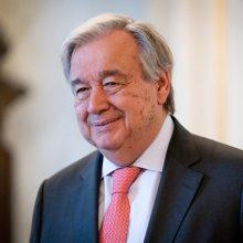 A. Guterresas – visuomenei: reikalaukite valdžios veiksmų dėl klimato kaitos