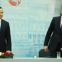 """""""Rzeczpospolita"""": Lenkijos prezidentas G. Nausėdą laiko asmeniniu sąjungininku"""