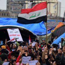 Irako sostinėje per protestuotojų ir pareigūnų susirėmimus žuvo du žmonės