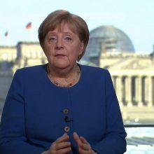 A. Merkel: koronaviruso krizė yra didžiausias ES išbandymas nuo jos įkūrimo