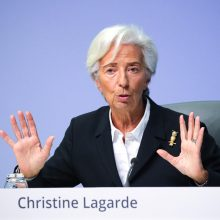 ECB vadovė prognozuoja tvirtą euro zonos ekonomikos atsigavimą antrą ketvirtį