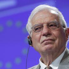 ES diplomatijos vadovas J. Borrellis: ES įves sankcijų Mianmaro kariuomenei