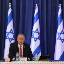 B. Gantzas žada remti Izraelio opozicijos projektą paleisti parlamentą