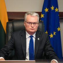 Lietuvos prezidentas su ES vadovais tarsis dėl COVID-19 valdymo