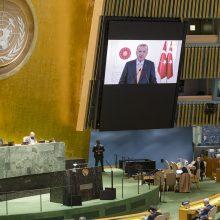 R. T. Erdoganas reikalauja JT reformos