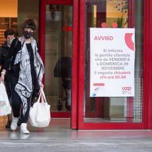Italijoje užfiksuota 19 350 naujų COVID-19 atvejų