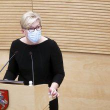 I. Šimonytė: nemanau, kad naujosios Vyriausybės programa galėtų reikšmingiau atsispindėti biudžete