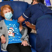 JK pirmąja vakcinos nuo koronaviruso doze paskiepyta jau daugiau kaip 25 mln. žmonių
