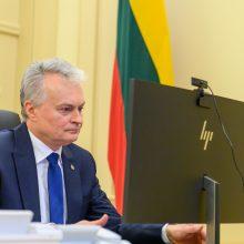 Prezidento ir G. Landsbergio pokalbyje aptarti svarbiausi užsienio politikos darbotvarkės klausimai