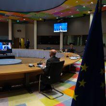 EVT parengiamoji sesija: aptartas vakcinų tiekimas, dezinformacijos grėsmės, sankcijos Rusijai