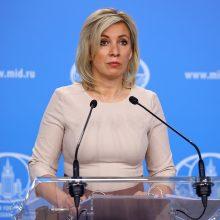 """Rusija sveikina UEFA reikalavimą Ukrainai pakoreguoti """"politinius marškinėlius"""""""