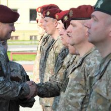 Klaipėdoje Lietuvos kariai išlydėti į misiją Malyje